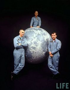 Apollo 10 crew - (from left) Gene Cernan, Tom Stafford, and John Young - LIFE magazine Nasa Missions, Moon Missions, Apollo Missions, Astronauts In Space, Nasa Astronauts, Apollo Spacecraft, Apollo Space Program, Space And Astronomy, Nasa Space