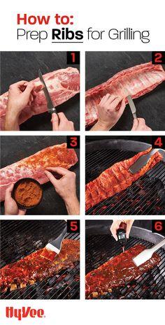 Rib Recipes, Entree Recipes, Grilling Recipes, Smoker Recipes, Recipies, Ribs On Grill, Grilling Ribs, Bbq Ribs, Barbecue