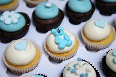 Babyshower mini-cupcakes #babyboy