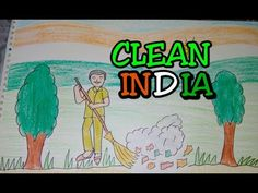 Drawing tutorial : Drawing on swachh bharat | clean india drawing [creative ideas] - YouTube