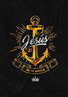 Poster and Print - Jesus is my anchor. Christian Clothing, Christian Shirts, Christian Art, Christian Quotes, Jesus Christ Images, Jesus Art, God Jesus, Cross Wallpaper, Jesus Wallpaper
