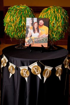 Our #Baylor Pom poms. At our wedding reception