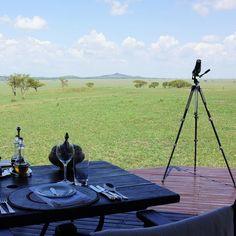 "#lunch with the best view. This is my kind of ""camping"" #safari #singita #oursingita #glamping #africa #serengeti #luxurytravel #wanderlust"