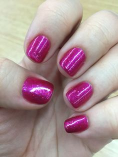 One coat Tutti Frutti, two coats Butterfly Queen- CND shellac Shellac Pedicure, Cnd Shellac, Shellac Nails, Pedicures, Manicure And Pedicure, Glitter Nails, Acrylic Nails, Nail Polish Colors, Gel Nail Polish