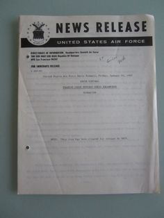 """A daily summary news release from the United States Air Force base in Tan Son Nhut Base in Vietnam. The date is January 10, 1969. The description of the document is """"Phantom Crews Destroy Enemy Encampment."""" It is a 6 page document."""
