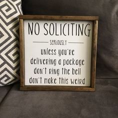 No Soliciting Sign -Hand Painted on Mercari
