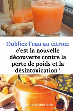 Oubliez l'eau au citron: c'est la nouvelle découverte contre la perte de poids et la désintoxication ! Carb Cycling, Anti Cellulite, Healthy Drinks, Cantaloupe, Smoothies, Beauty Hacks, Nutrition, Food And Drink, Health Fitness