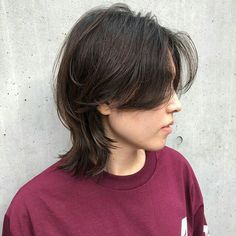Tomboy Hairstyles, Boys Long Hairstyles, Curled Hairstyles, Cool Hairstyles, Mullet Hairstyle, Lob Hairstyle, Asian Short Hair, Short Hair Cuts, Medium Hair Styles