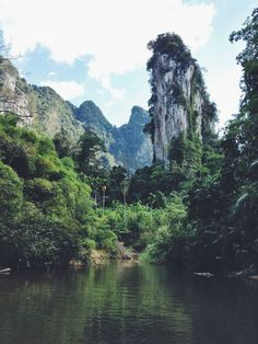 Khao Sok National Park in south Thailand (near Phuket, Krabi, Khao Lak) boasts a spectacular landscape of limestone rock formations and ancient rainforest and can be best explored by boat or kayak or on foot (jungle treks). You can stay in tree houses and floating huts on a lake, or try glamping in luxury safari tents at Elephant Hills camp.  (Black Dots White Spots travel blog)