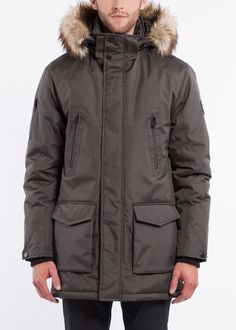 NOIZE- men- DAX - slate Slate, Canada Goose Jackets, Winter Jackets, How To Wear, Stuff To Buy, Fashion, Jackets, Winter Coats, Moda