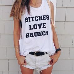 PYLO BITCHES LOVE BRUNCH MUSCLE TEE from pylo.com | Clothes