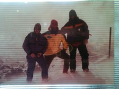 Dad, me & Aaron Top of the north face,  Big Sky, Montana Year??? (1998-2001 range)