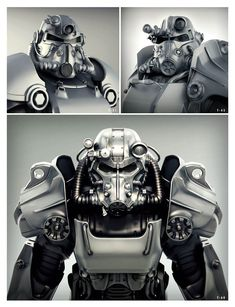 Power Armor Versions from Fallout 4