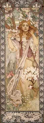 Metal-Sign-Mucha-Alphonse-Maud-Adams-As-Joan-Of-Arc-A4-12x8-Aluminium