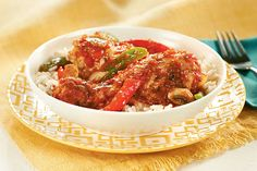 Enjoy our Slow-Cooker Chicken Cacciatore. Simmer tomatoes, fresh onions, garlic and peppers with juicy chicken for a meal ready when you…