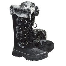 Sorel  Khombu Arctic 2 Winter Pac Boots - Weatherproof, Lace-Ups (For Women) in Black - Closeouts