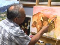 Artist Keith Nolan shows us his studio and creates an actual painting as he explains what art means to him.