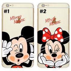 Cute DISNEYMickey Minnie Stitch Marble Apple by DIYLoverDesign Disney IPhone 7 7 Plus case