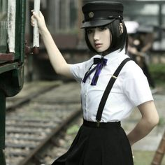 Pill Shop military-style male and female gakuran uniform (Preorders currently closed but might reopen in future. Harajuku Fashion, Lolita Fashion, Visual Kei, Korean Girl, Asian Girl, Japanese Uniform, Grunge, Military Fashion, Military Style