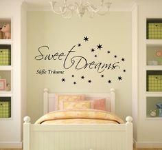 Sweet Dreams*Wandtattoo Schlafzimmer Kinderzimmer von MEG-Wandtattoos/Wall-Sticker auf DaWanda.com