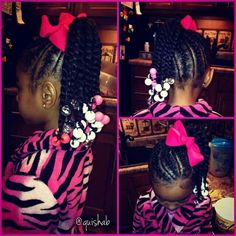 Cute hairstyle for little girl, Braids and Two-Strand Twists