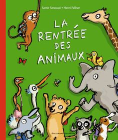 LA RENTREE DES ANIMAUX Samir Senoussi C'est un livre épatant à lire dès trois ans, une belle histoire de rentrée des classes. A ceci près qu'il s'agit de la rentrée d'un dromadaire, d'un éléphant d'un flamant rose (qui y va sur une patte), d'un tamanoir et même d'un paresseux... C'est un grand album et, une fois refermé, on se dit que, finalement, la rentrée sera peut-être un peu plus marrante vue sous cet angle.
