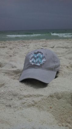 Personalized Hat Chevron Circle Applique with Initials Monogrammed initial ball cap Circle Monogram hat Monogram Hats, Circle Monogram, Monogram Initials, Embroidered Gifts, Summer Loving, Headgear, Virtual Closet, Beach Trip, Embroidery Applique