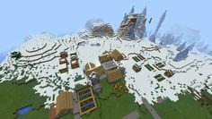 1410403532 spawn near snow village ice spike seed Minecraft Pe Seeds, Easy Minecraft Houses, Minecraft Houses Blueprints, Cool Minecraft, Minecraft Creations, Minecraft Ideas, Minecraft Projects, Minecraft Designs, Minecraft Seeds Pocket Edition
