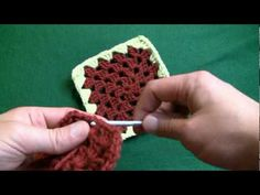 How to Change colors in a granny square for right handers « Knitting & Crochet