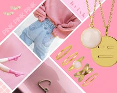 Styling by lovisajosefina showing Bubble Pendant Pink Gold, Expressionless Emoji Pendant Gold, Lush Quartet Pink ear stick Gold , Eternal Pink Zirconia Half Ring Gold, Flush set Yellow Zirconia Ring Gold, Bubble Facet Ring Pink Medium Gold, Cross Ring Gold and Basic wonder Ring Extra Small Gold #jewellery #Jewelry #bangles #amulet #dogtag #medallion #choker #charms #Pendant #Earring #EarringBackPeace #EarJacket #EarSticks #Necklace #Earcuff #Bracelet #Minimal #minimalistic…
