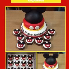 Mickey mouse cake and cupcakes by Bake Me Love