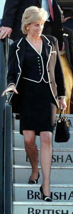 Lady Diana at Heathrow 1996 or 1997, coming from Chicago