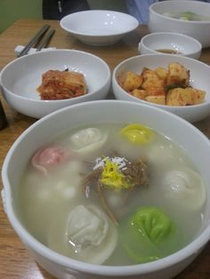 오색 만두국 ~♥ five color dumpling in soup