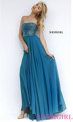 Floor Length Strapless Gown 1966 by Sherri Hill at PromGirl.com