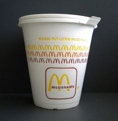 old McDonalds coffee cup