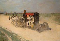 Валентин Серов - Линейка из Москвы в Кузьминки (1892)