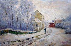 Snow At Argenteuil Claude Monet
