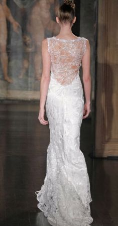 Claire Pettibone Wedding Dress Style Sky Between The Branches | OneWed  I love the back detail.