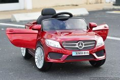Mercedes Benz Style Ride On Car 12V with Remote Control | Red