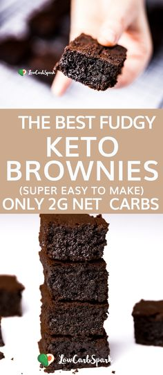 The most amazing, delicious, fudgy & easy to make keto brownies in the whole world. Enjoy a chocolatey that's insanely tasty! The most amazing, delicious, fudgy & easy to make keto brownies in the whole world. Enjoy a chocolatey that's insanely tasty! Desserts Keto, Keto Snacks, Diabetic Desserts Sugar Free Low Carb, Easy Keto Dessert, Healthy Low Carb Snacks, Keto Cookies, Sugar Cookies, Keto Fat, Low Carb Keto