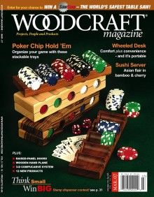 Plans and video instruction on how to make some sweet poker chip trays. Playing Card Box, Playing Card Games, Best Woodworking Tools, Woodworking Projects, Cherry Plus, Discount Magazines, Custom Poker Chips, David Marks, Small Wood Projects