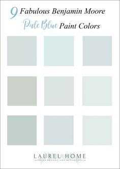 9 best pale blue paint colors Bedroom Paint Colors, Paint Colors For Home, Room Colors, Cottage Paint Colors, Best Bathroom Paint Colors, Wall Colors, Home Interior, Interior Paint, Mansion Interior