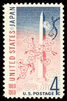 1960 4c U.S. Japan Treaty Scott 1158 Mint F/VF NH