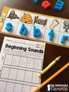 Beginning Sounds activity centers. Love the recording sheets and I Can visual directions included in this packet!!
