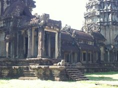 Outside Angkor Wat.