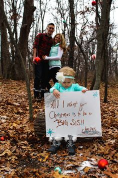 Awesome Pregnancy Announcement. Christmas Reveal. Sibling Love.