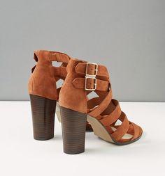 Sandali in pelle cognac - Promod