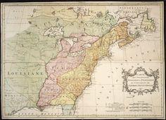 Carte des possessions Angloises & Francoises du continent de l'Amerique septentrionale, 1755