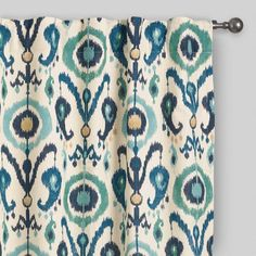 One of my favorite discoveries at WorldMarket.com: Indigo Ikat Concealed Tab Top Curtains Set of 2