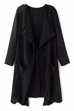 Open Front Sheer Black Cardigan